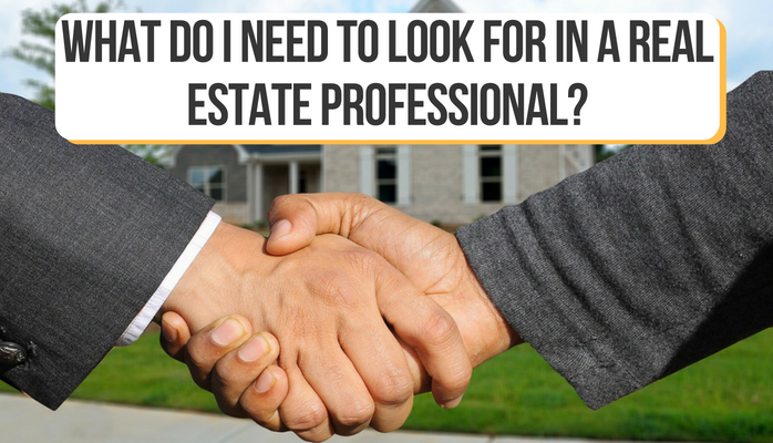 What do I need to look for in a Real Estate Professional?